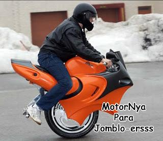 gambar lucu kata motor jomblo