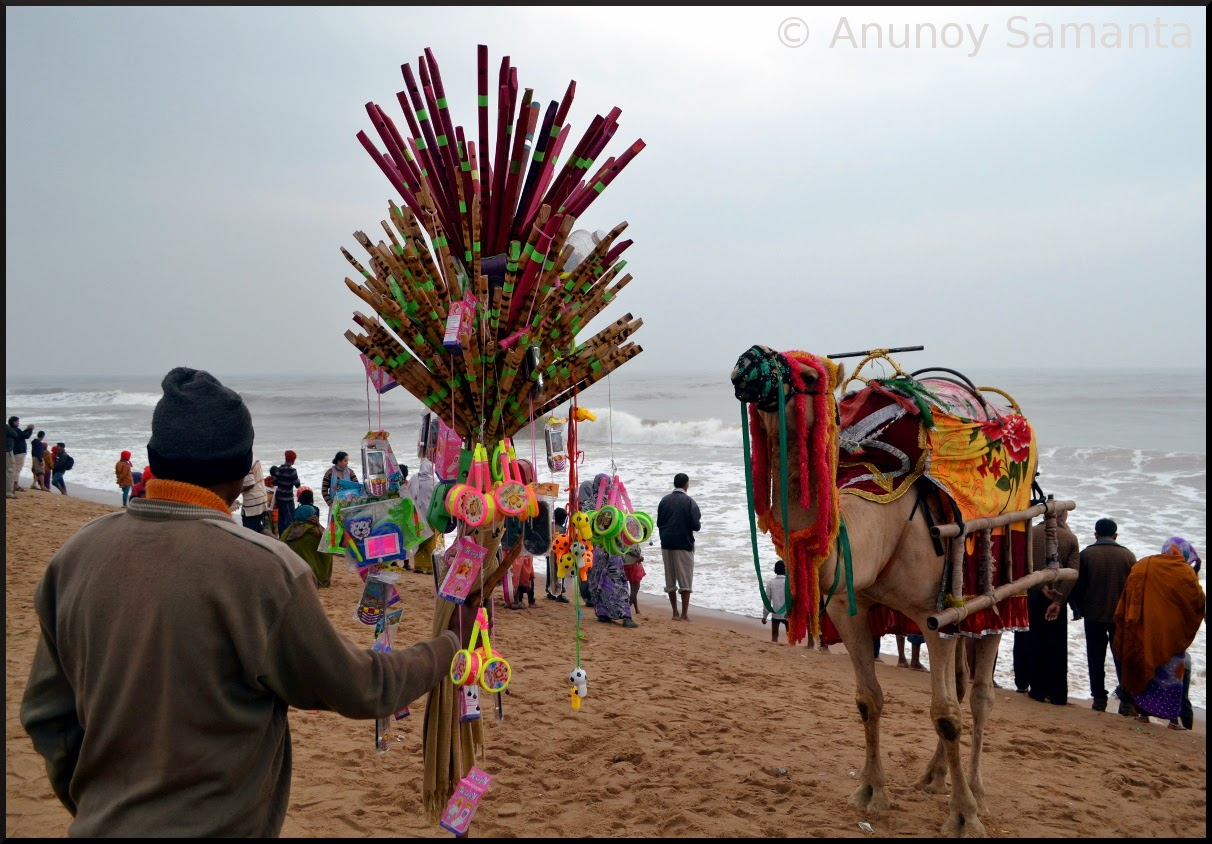 Puri Beachscape - Camels in Exile