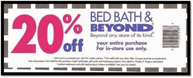 Bed bath and beyond coupon canada november 2018