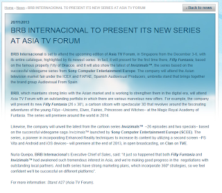 BRB Internacional presenting Filly Funtasia at Asia TV Forum