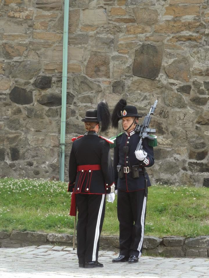 Guards at Akershus Fortress  and Castle, Oslo