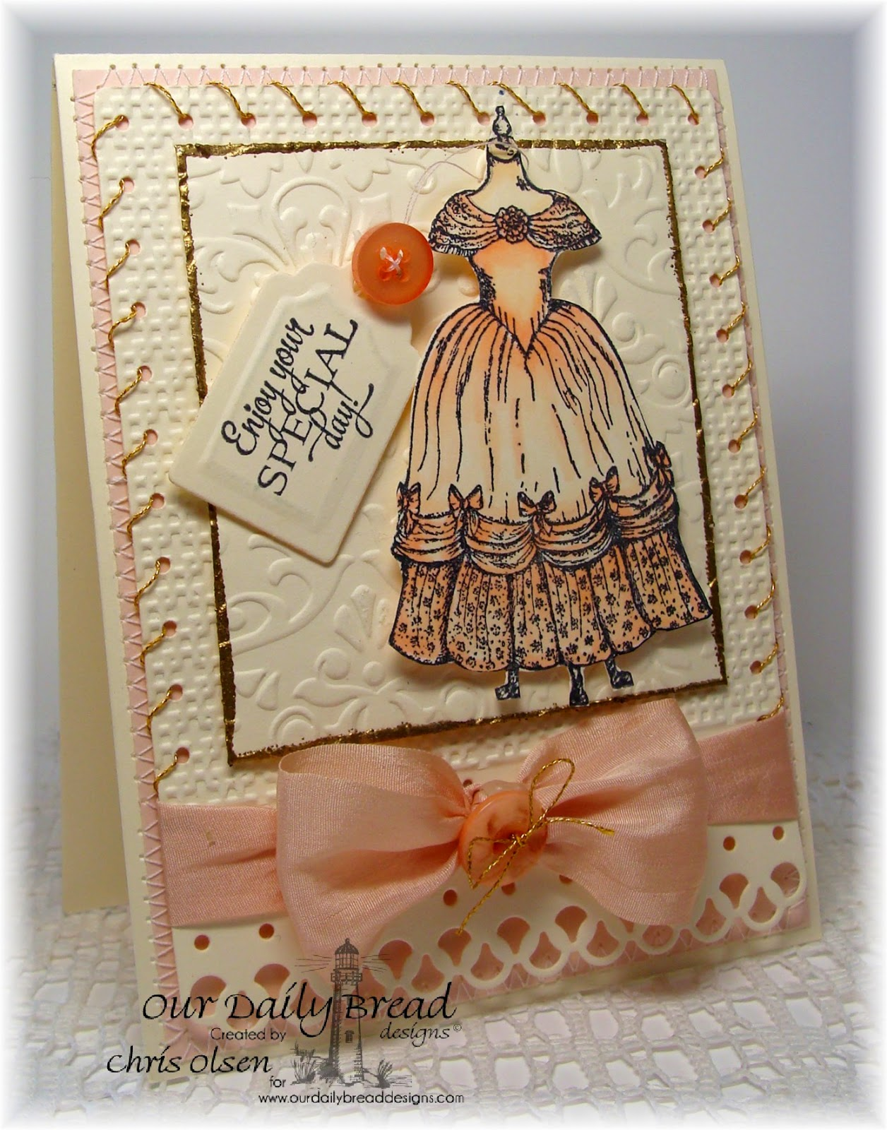Our Daily Bread Designs, Victoria, Birthday Doily, Recipe and Tags Die, Glowbug, Designer-Chris Olsen