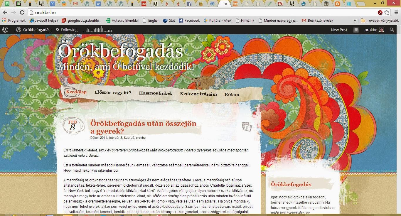 Blogom az örökbefogadásról