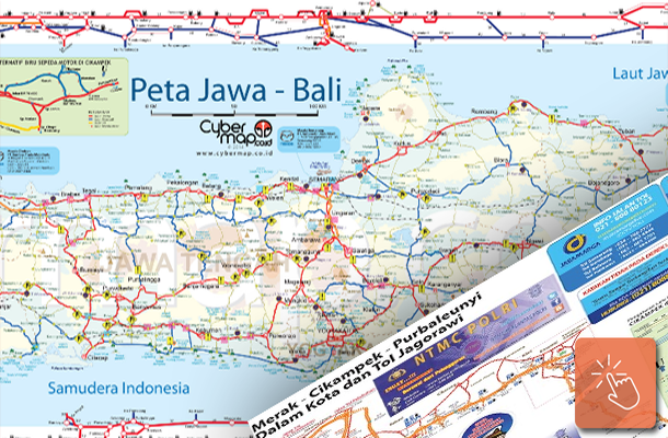 Peta Jalur Mudik Jawa Bali dan Sumatera Download PDF