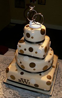 Wedding cakes in brown, part 1