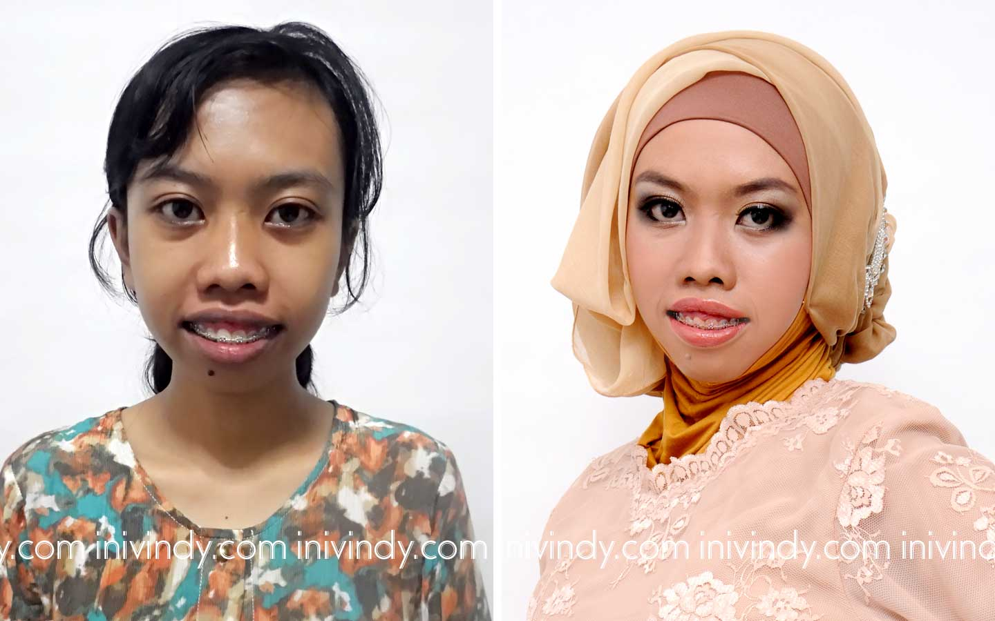 Ini Vindy Yang Ajaib Before After Makeover Wisuda Hijab Natural