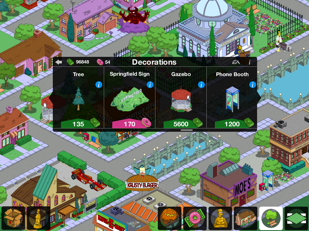 Dog Racing On The Simpsons Tapped Out