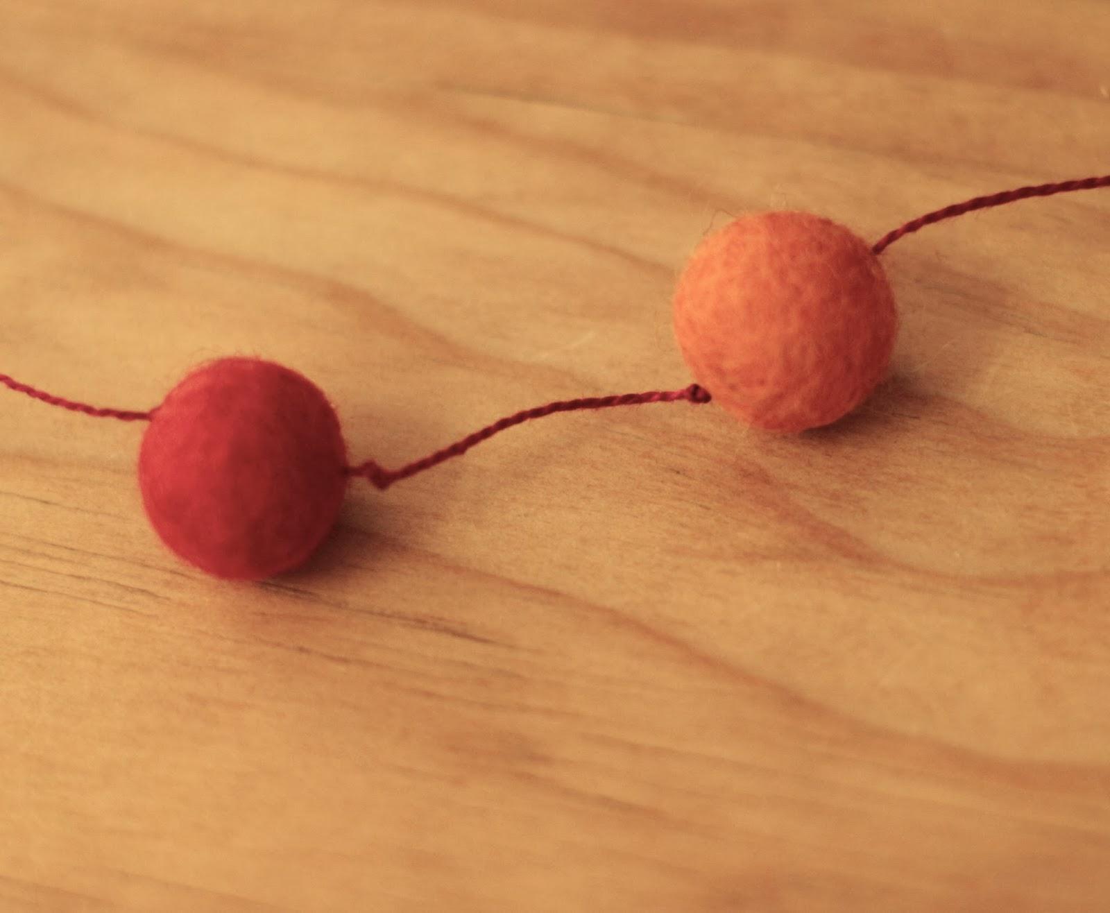 Needle through balls