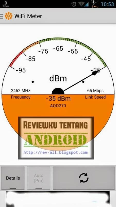Tampilan utama aplikasi WIFI SIGNAL STRENGTH - ketahui kekuatan sinyal wifi android (rev-all.blogspot.com)