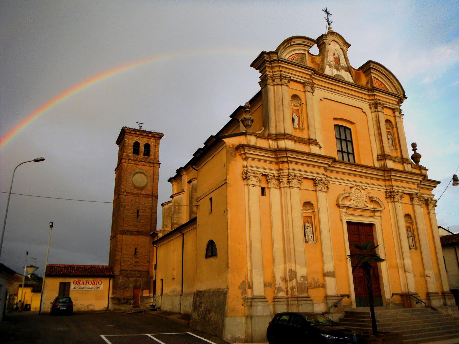 Arcobaleno sulla chiesa