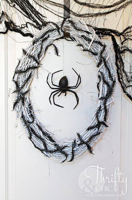 DIY insect infested Halloween wreath