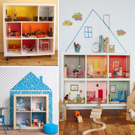 the dolls house shelves as a doll house. Black Bedroom Furniture Sets. Home Design Ideas