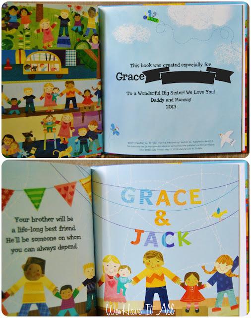 Big Sister Personalized Children's Book