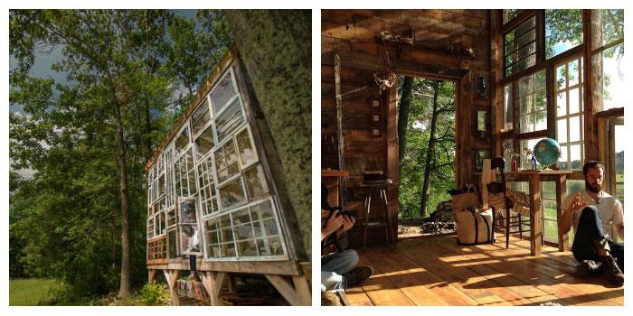 construida en las montañas de West Virginia por el fotógrafo Nick Olson y su esposa Lila Horwitz. Una verdadera celebración de sostenibilidad y arquitectura integrada con la naturaleza. Creo que de todas las que he visto, es mi preferida. Una casa luminosa y acogedora.