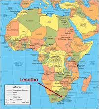 Where in the world is Lesotho?