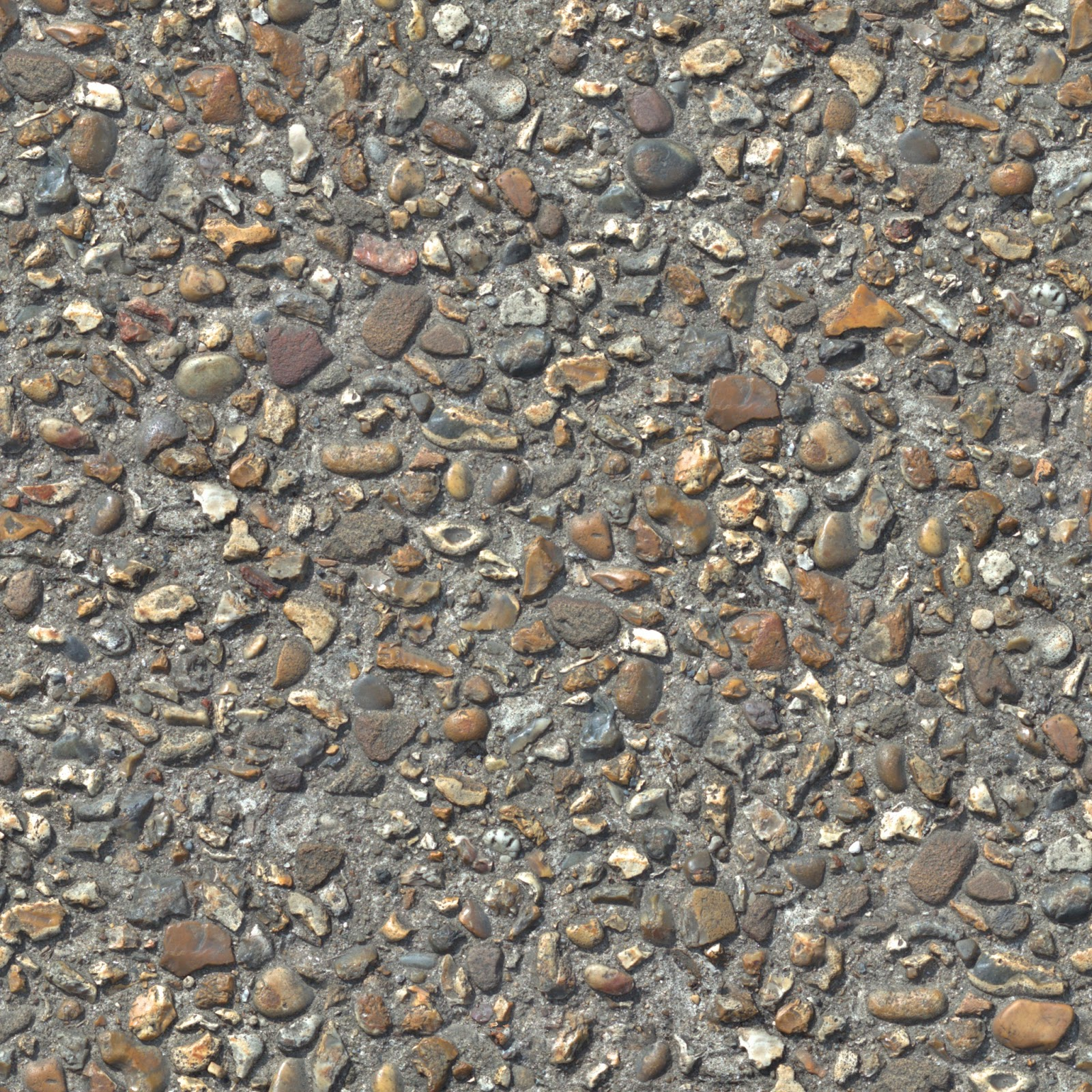 (Concrete cobble stone 3) pebble walkway seamless texture 2048x2048