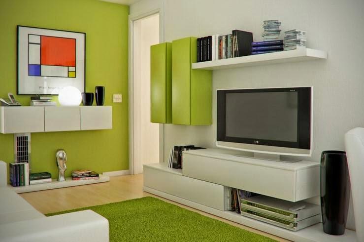 Ruang keluarga minimalis kecil 4