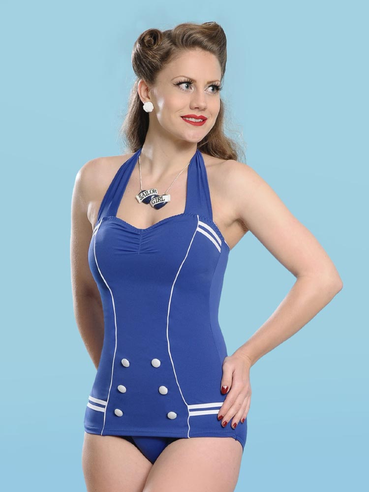 A one-piece swimsuit is a usually a skin-tight women's swimsuits used when swimming in the sea or pool. The one-piece swimsuit usually covers most of the torso and all of the butt. The one-piece swimsuit usually covers most of the torso and all of the butt.