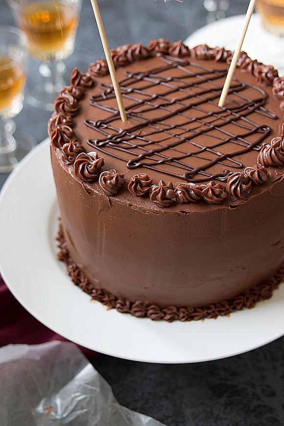 torta con chocolate