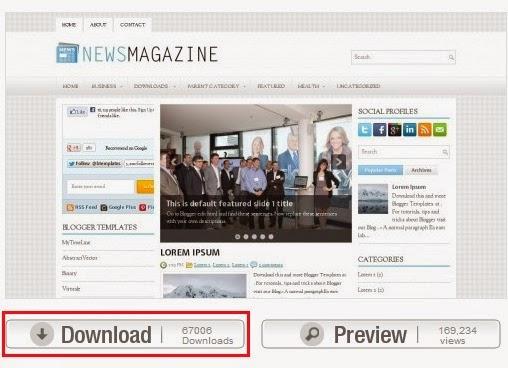 Lihat detail dari template saat anda membuat blog