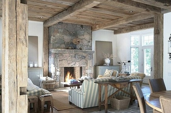 Interiores con paredes de piedra para embellecer tu hogar ...