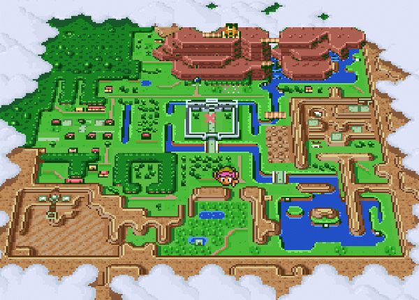 A Link to the Past - Mapa
