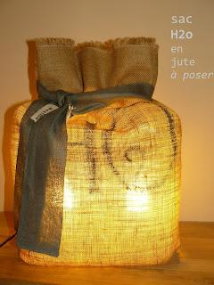 lampe créée à aix en provence en toile de jute - made in france