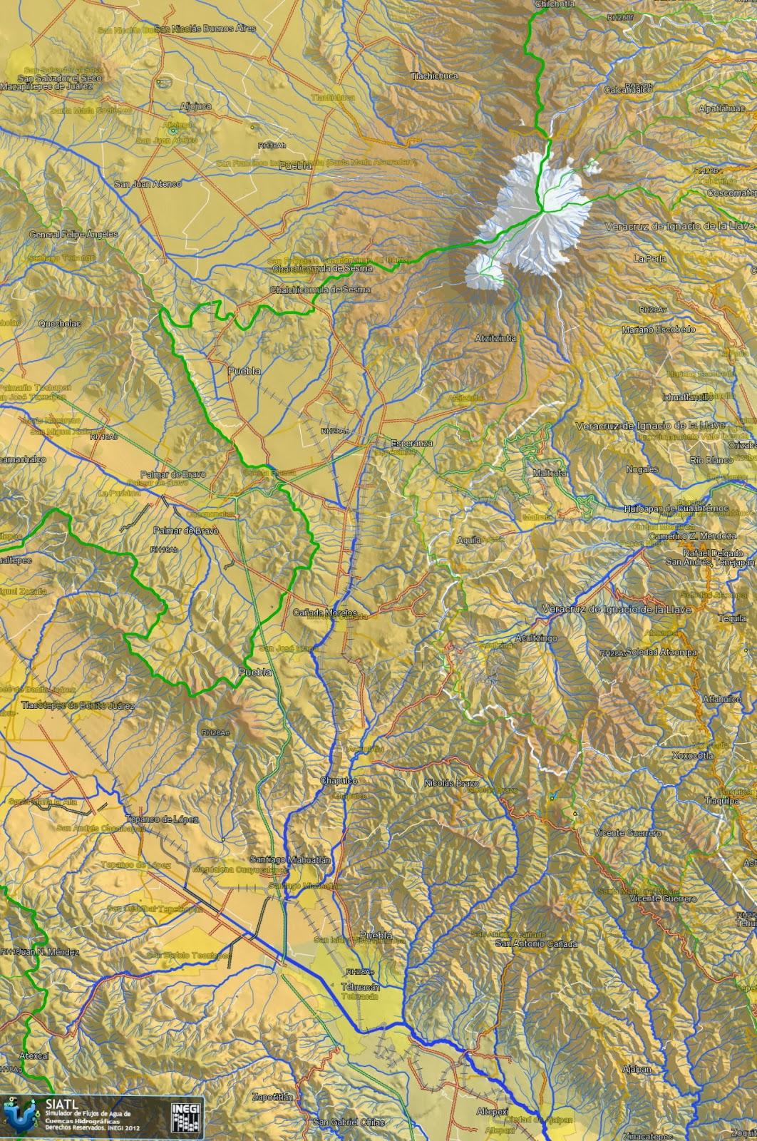 Ambos Cauces Se Unen Al Sureste De La Ciudad Y Corren Hacia Cañada Oaxaqueña Ésto Puede Apreciar En El Siguiente Mapa Hidrológico Inegi
