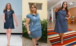 Modelos de vestidos jeans plus size - dicas e fotos