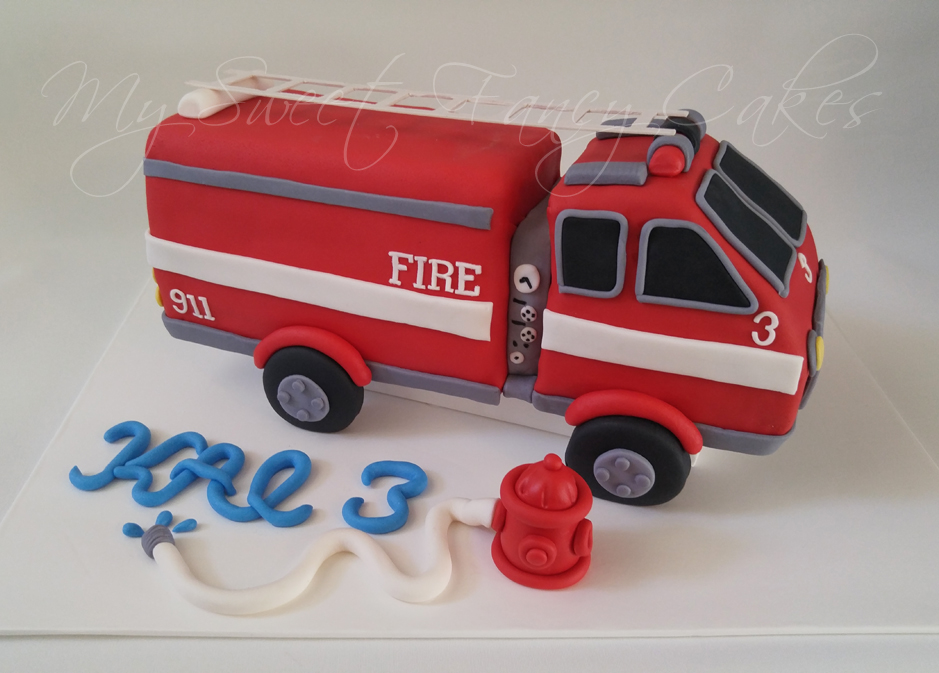 Fire Truck Cake Design : My Sweet Fancy Cakes: Firetruck cake