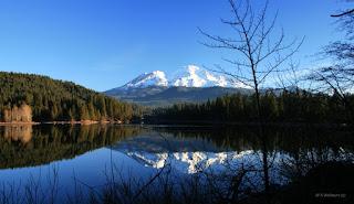 Lake Siskiou and Mount Shasta