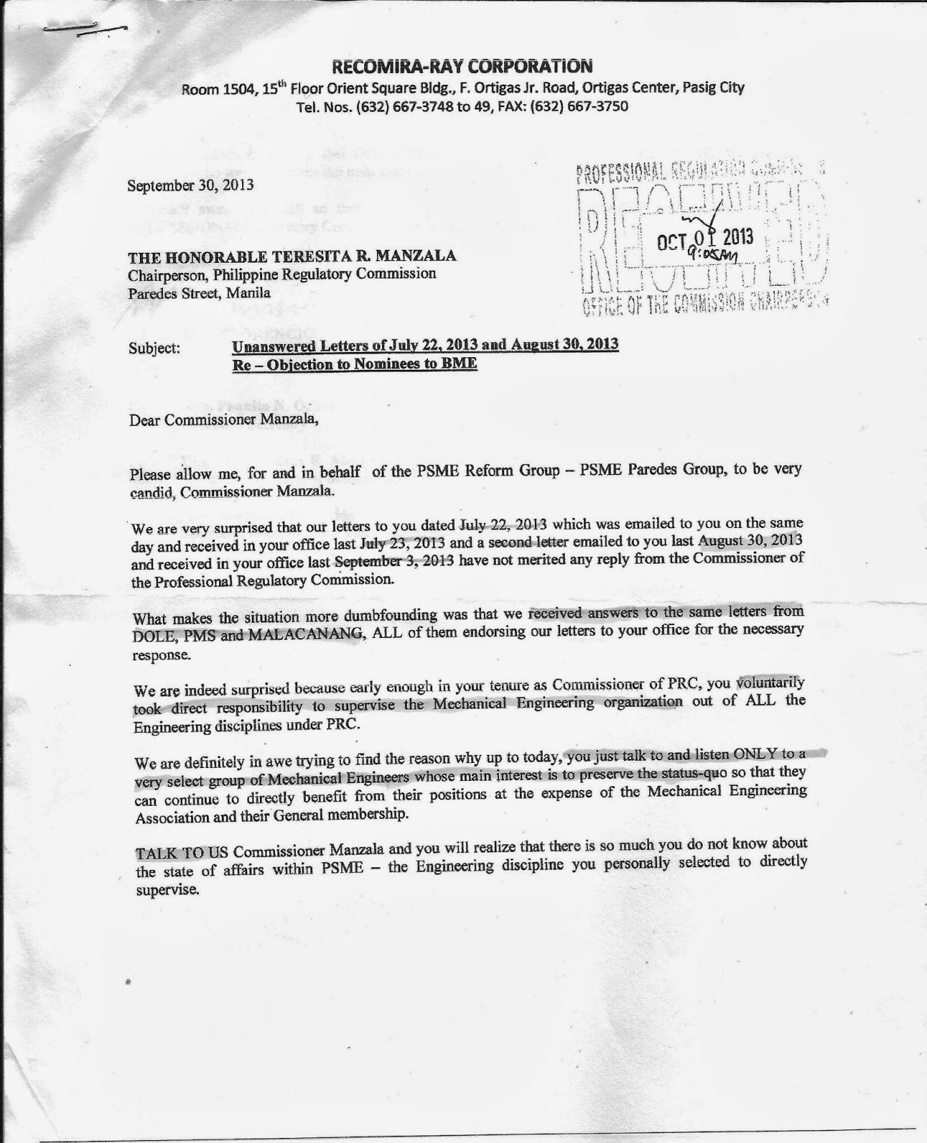 Mekaniko october 2013 raf ltr to hon trnzala re unanswered letters 72213 and 83013 re objection to nominees to bme fandeluxe Choice Image