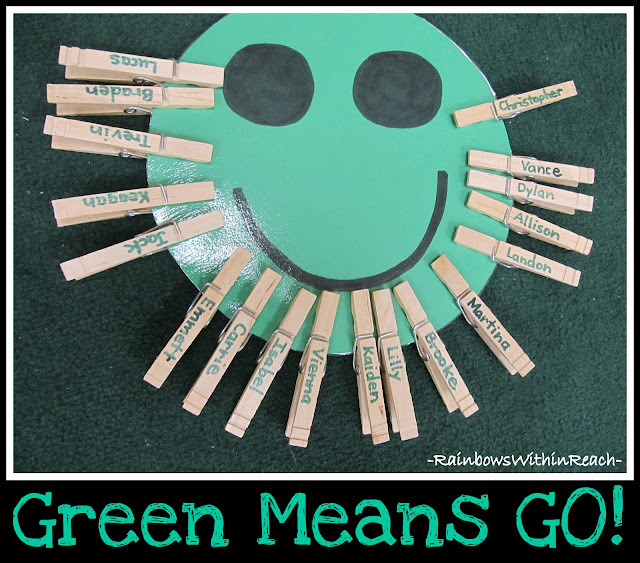 photo of: Happy Face Behavior Chart w Individual Clothes Pins (Behavior Chart RoundUP via RainbowsWithinReach)