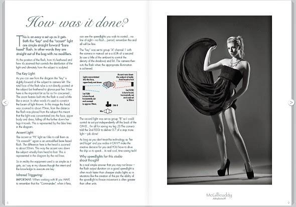Pagina di ebook gratuito sulla fotografia di moda e glamour