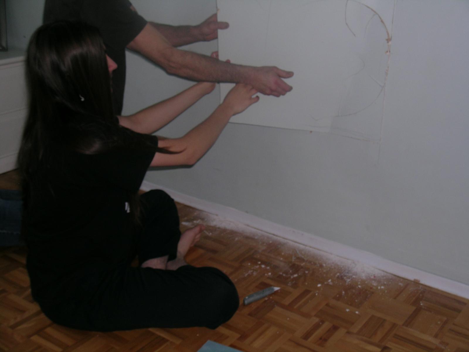 J 39 ose la vie r parer un mur de gypse for Apprendre a peindre un mur