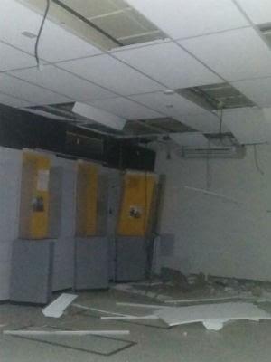 Explosão do Banco do Brasil, em Sátiro Dias (Foto: Willian Pereira/ Arquivo Pessoal )