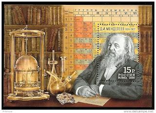 gambar foto dalam perangko Dimitri Ivanovich Mendeleev
