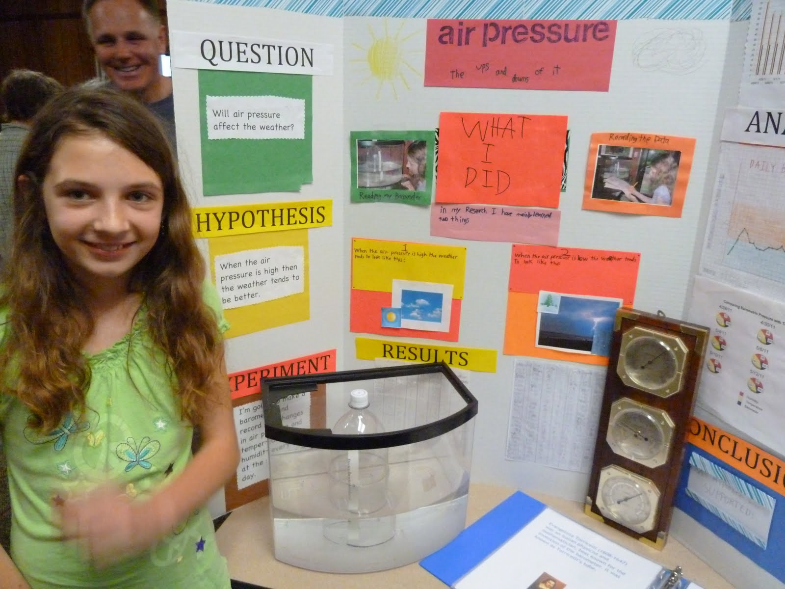 Simple Barometer Science Project Science fair!