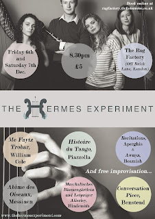 The Hermes Experiement at the Rag Factory, 6/7 Dec 2013