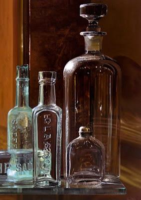 Cuadros pinturas oleos pinturas de botellas de vidrio - Vidrio plastico para cuadros ...