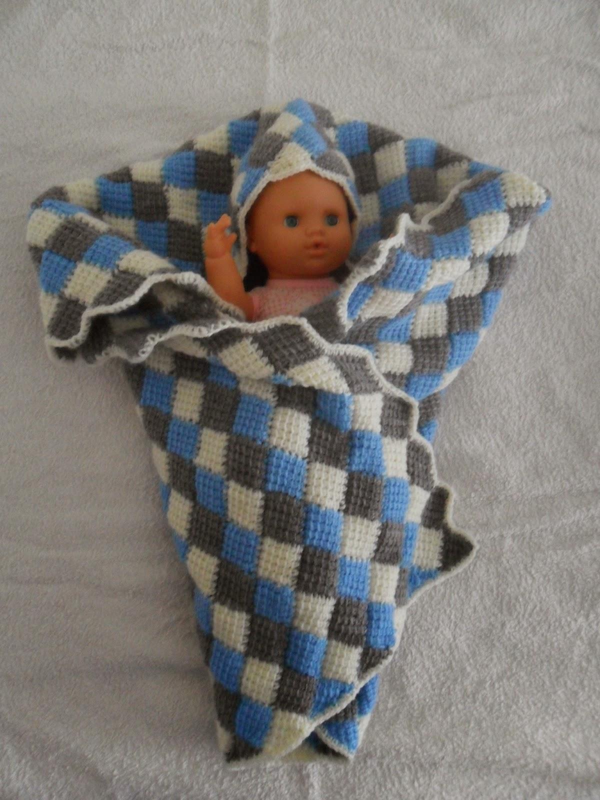 Tejidos marisa manta bebe en ganchillo punto tunecino - Manta de bebe a ganchillo ...