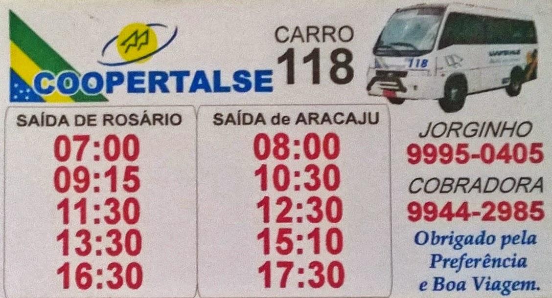 COOPERTALSE - CARRO 118 - LINHA ROSÁRIO / ARACAJU