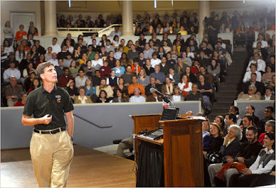 Image of Randy Pausch speaking at CMU