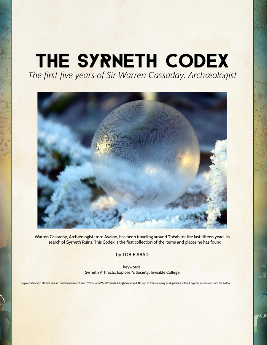 The Syrneth Codex