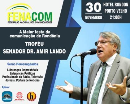 VEM AI O PREMIO FENACOM 2019 - 30/11 HOTEL RONDON