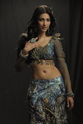 Shruti Hasan Hot Navel Show Photos