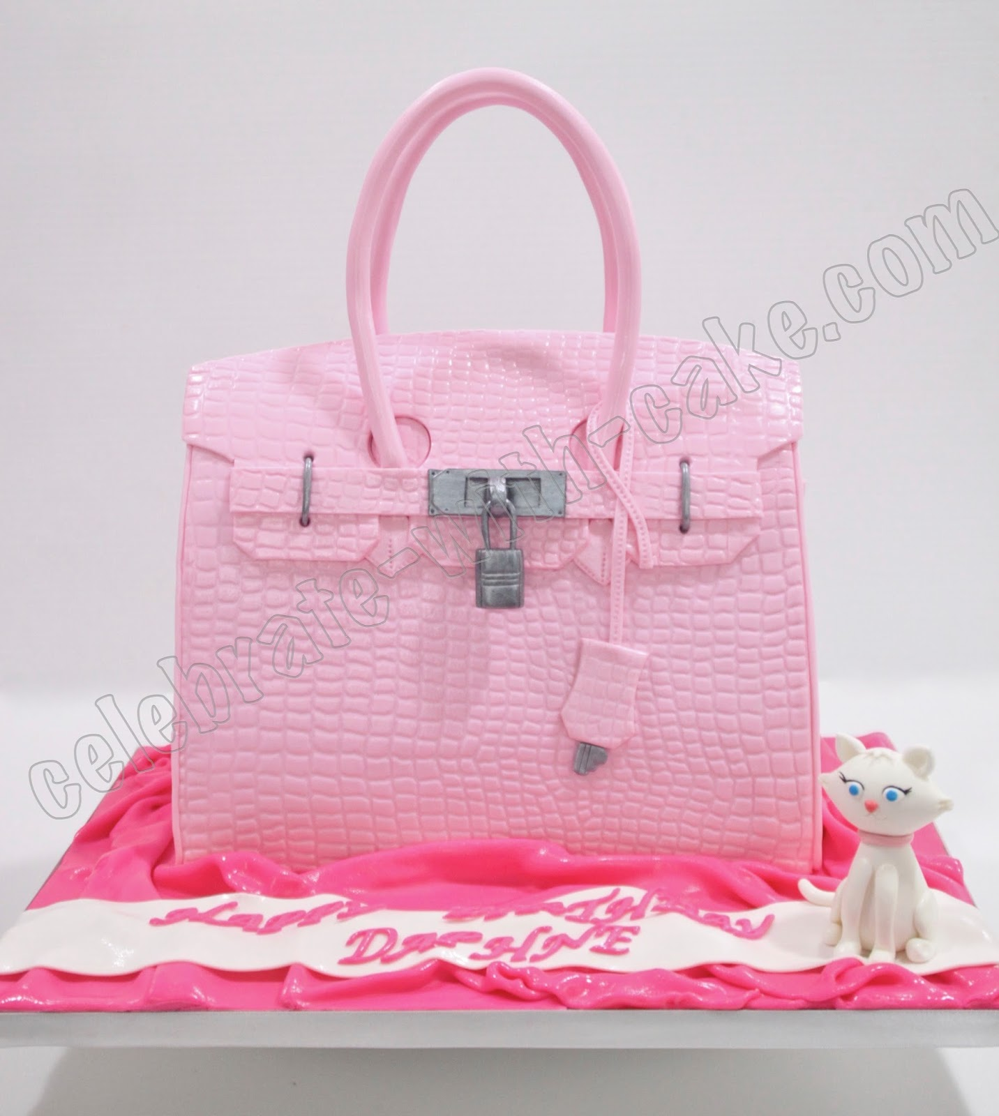 replica hermes wallet - Celebrate with Cake!: Pink Hermes Birkin Bag Cake