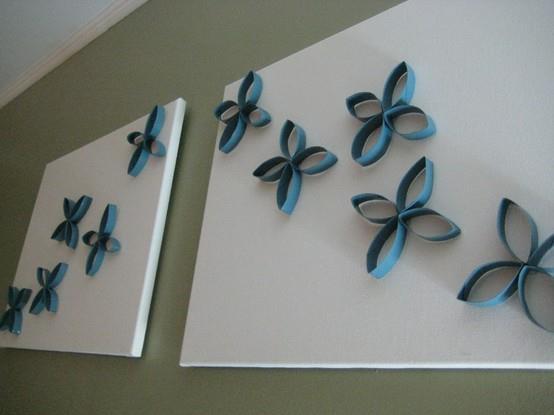 Ideas brillantes para el hogar decoracion mural con conos - Hacer conos papel ...