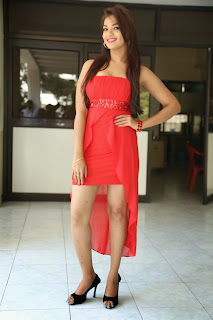 Actress Ashwini Latest  Pictures in Short Dress at Vinodam 100 Movie Press Meet  023.jpg