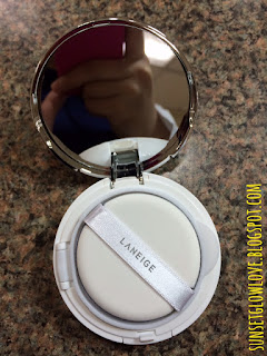 Laneige BB Cushion Pore Control mirror and air puff